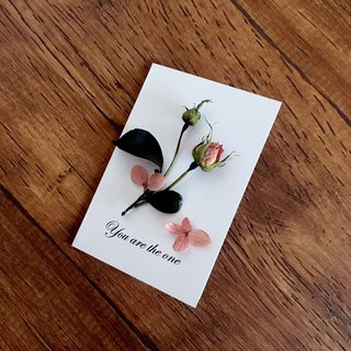 | Hand roses | Dried flower card. Give my dear to you. Can write. Folding card