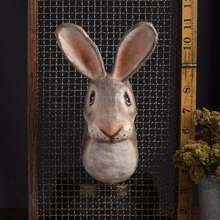 rabbit paper mache wall mount
