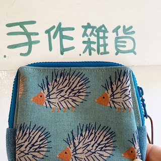 [Good day hand made] Handmade. Hedgehog storage bag. packet. gift