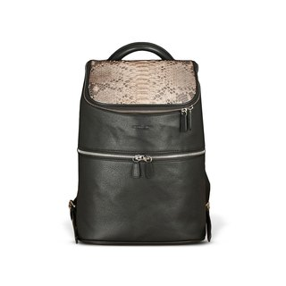 STORYLEATHER Spot Style 6656 Mang & snakeskin leather backpack after aniline