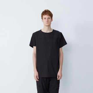 Picnic go - devil stick stitching color shirt - black