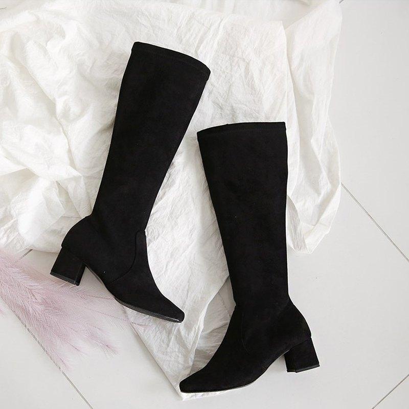 PRE-ORDER 韓國人手製 MACMOC Kara (Black) 長靴 5cm