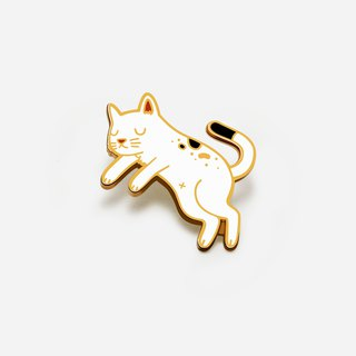 Floating Cat Enamel Pin