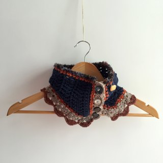 Creative multi-ways organic cotton cowl -crochet scarf