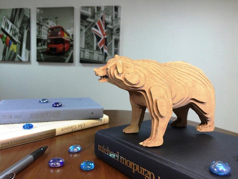 Contamo手作模型DIY材料包  野生動物系列-熊-大