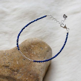 Lapis Silver 925 Bracelet with Linear Memory Alloy