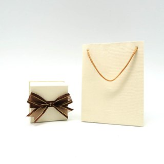 Small Ribbon Gift Box Plus Luxury Paper Loop Bag - Exquisite Small Jewelry Case