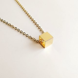 [Square Geometry] Hand-made brass space • Necklace