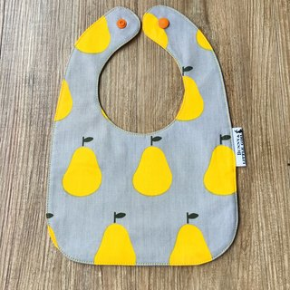 Double Sided Bib - Yellow Pear