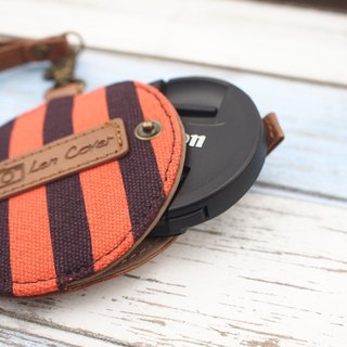 Travelholic Camera Lens Case (Orange/Blue Stripes)