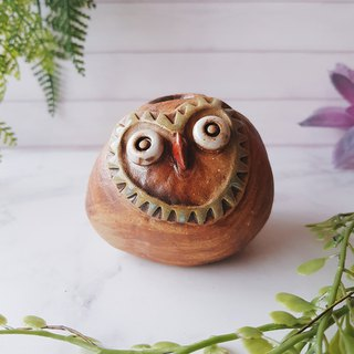 A-04 Owl Penholder │Yoshino Eagle x Ceramic Art Storage Penholder Pure Handmade Desk, Desk Stationery Healing Small Things