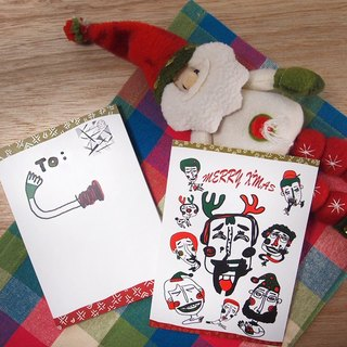 Christmas special people have to Christmas [Christmas postcard] stationery postcard design