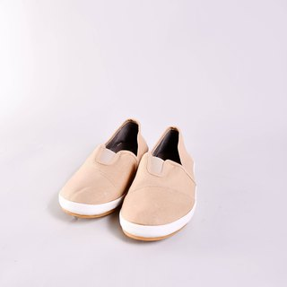 50% off - spotted or water mark - BELLE light khaki canvas shoes