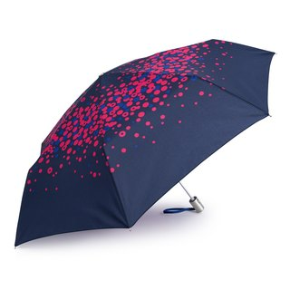 Ultra Lightweight Auto Open Close Umbrella - Pink Polka Dot