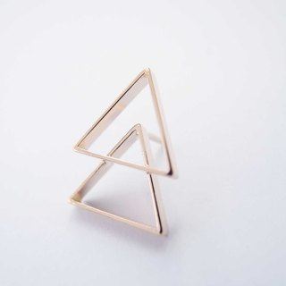 Triangle small tree brooch