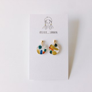 Day and night adventure series - Miss Nightingale hand-painted handmade earrings can be changed