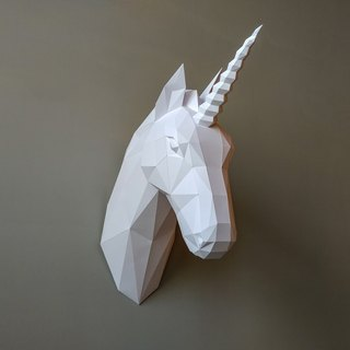3D paper model _ unicorn wall decoration _DIY Kits_ hand-made portfolio