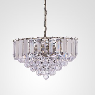 BNL00061- bronze transparent acrylic bead chandelier