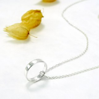 Custom Ring - Men's 4mm Plate Rings Pure Silver Ring Sterling Silver Necklace