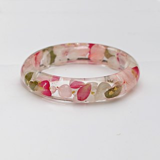 FlowerSays / Rose&Hydrangea Real Flower Bracelet / Pink Collection / Eternal Flowers / Bracelet
