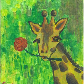 [Animal] Series - Giraffe_Postcard_Card