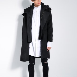 Double hooded coat # 8887