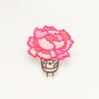 Carnation Embroidered Patches