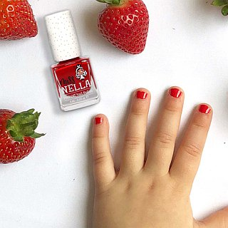 British [Miss Nella] children's water-based tear-proof safety nail polish - strawberry red (MN07)