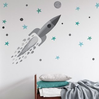 Spanish Tresxics Rocket Wall Sticker (Gray)