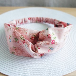 Lovely text small rose butterfly elastic hair band, hair ring, pink