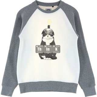 AMO Original cotton adult Sweater /AKE/ Thinking Cat