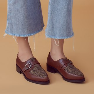 Improved open style! Non-grinding soft core two-color Mengke shoes coconut brown MIT full leather