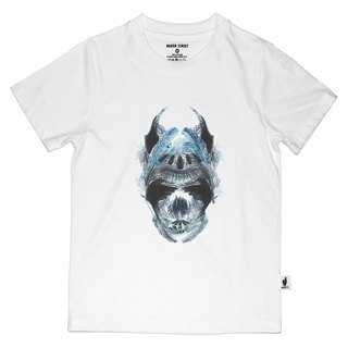 British Fashion Brand [Baker Street] Blue Feather Skull Printed T-shirt for Kids