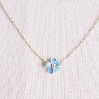 forget me not pendant&necklace