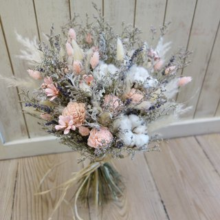 Wedding floral series ~ dry natural bunch bouquet