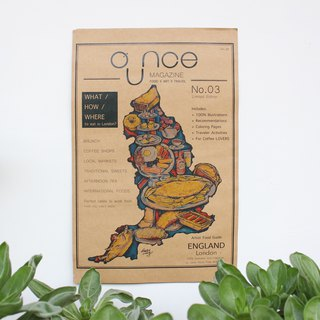 OUNCE Food Map Poster - England