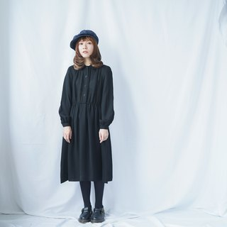 Vintage Classic Black Shirt Dress