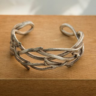 Sterling silver open-ended branch bracelet vine / dry stick / twine