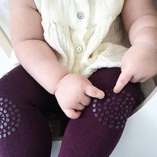 GoBaby Go Crawl Leggings - Grape Purple Leggins - Plum