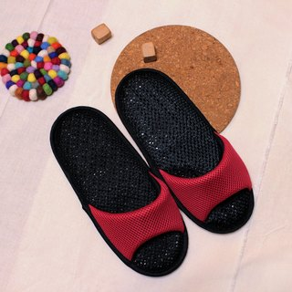 AC RABBIT low-pressure indoor air cushion slippers - exposed toe models - red comfortable decompression original / sp-1207T-Mrd