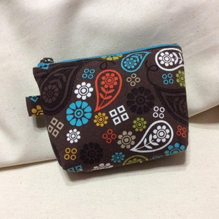 Purse | small objects admission package | brown - floret