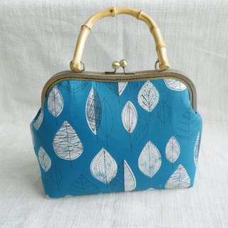 Leaves--Natural Wood Bamboo Handbag Gold Bag