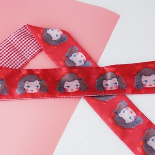 Ben Shou original handmade red doll rabbit ear hair band