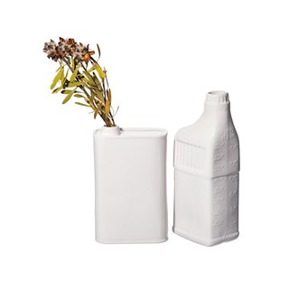 BOTTLE SHAPED FLOWER VASE Tank Shape Porcelain