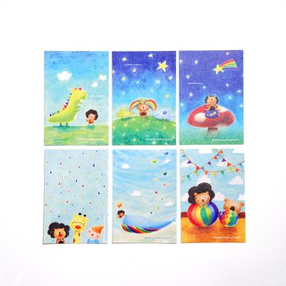 Rainbow postcard set 2