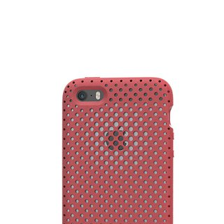 AndMesh i7/8Plus Japan QQ Dot Soft Impact Protection Cover - Red Pottery (4571384958431)
