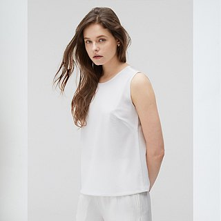 Comfortable Sleeveless Top - White