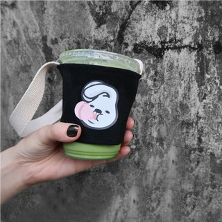 Walking pet Fabric coffee sleeve