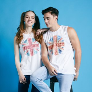 British Fashion Brand -Baker Street- ISHIHARA  UNION JACK printed Tank Top