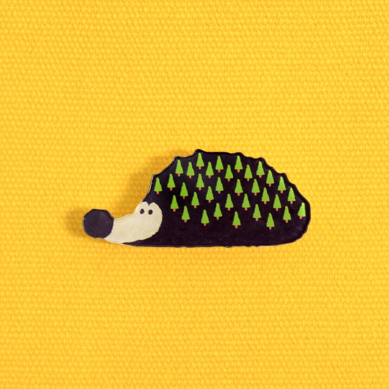 [Exclusive small things] big nose small tree hedgehog - thick cut pin